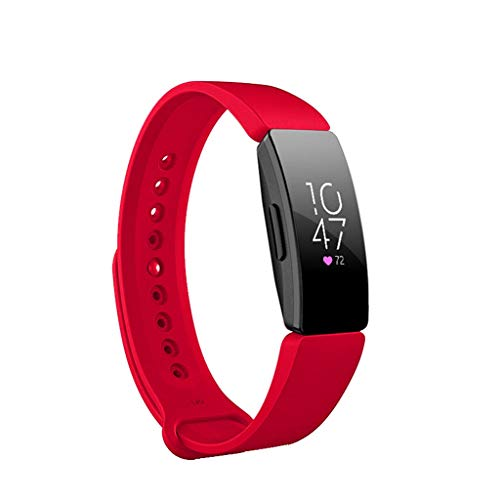 certainPL Compatible Fitbit Inspire HR Bands/Fitbit Inspire Band, Soft Silicone Sports Watch Band Strap Wristband Replacement Band for Fitbit Inspire/Inspire HR (Red)