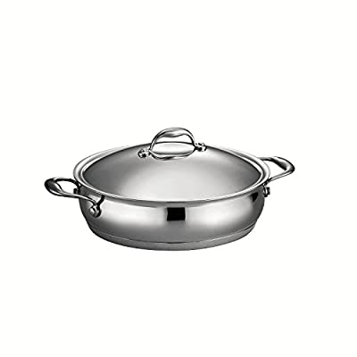 Tramontina 80102/000DS Gourmet Domus Stainless Steel, Induction-Ready, Impact-Bonded, Tri-Ply Base Fry Pan, 8-inch, Made in Brazil