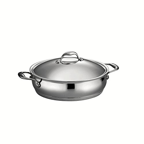 Tramontina 80102/014DS Gourmet Domus Tri-Ply Base Braiser, 5-Quart, 18/10 Stainless Steel by Tramontina