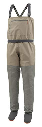 Simms Tributary Stockingfoot Waders, Men's Fly Fishing Chest Waders, Durable, Breathable, Neoprene, - Fly Tan