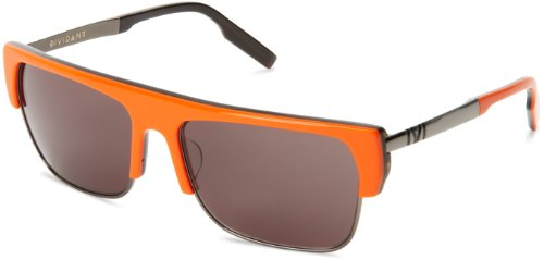 IVI Dividant Rectangular Sunglasses, Blood Orange, 59