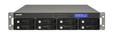 QNAP USB 2.0 8-Bay Turbo Network Attached Storage Rack Mount Server with Redundant Power Supply USB 2.0 TS-859U-RP+-US