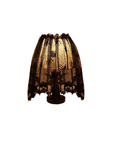 Price comparison product image Halloween Lamp Cover, Lovewe Halloween Knitted Curtain Lamp Cover Black Spider bat lace Halloween Decoration Home Decor