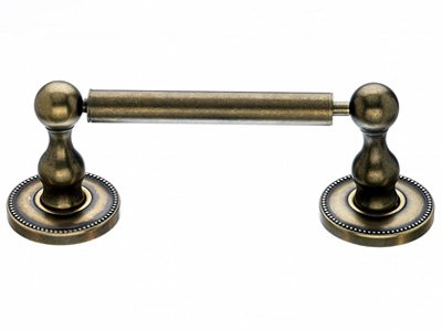 Top Knob Edwardian Bath Tissue Holder - ED3GBZA - Greman Bronze - Beaded Back Plate