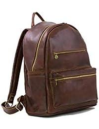 Beautiful Italian Genuine Leather Unisex Backpack Brown