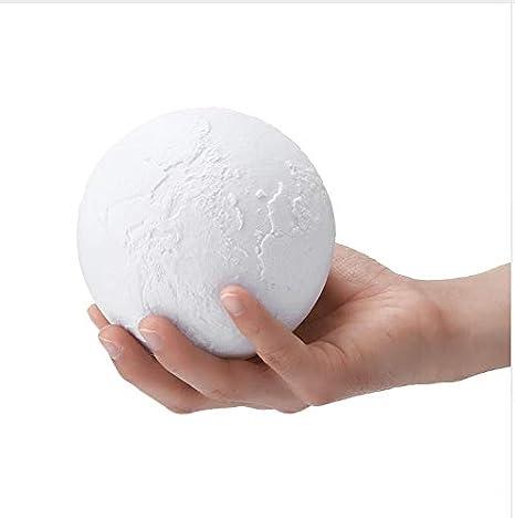 Usb Touch Recargable Impresión En 3D Tierra Noche Luz Color Luna ...