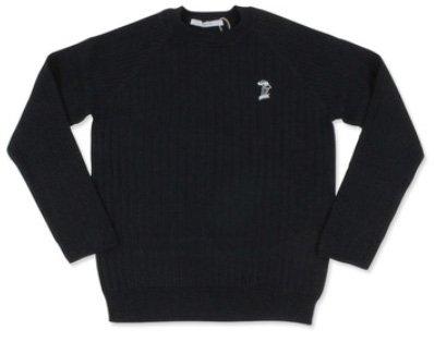 パーリッシィPAR ICI キノコ刺繍リブニット長袖プルオーバー (50-01-KN-010-17-2)