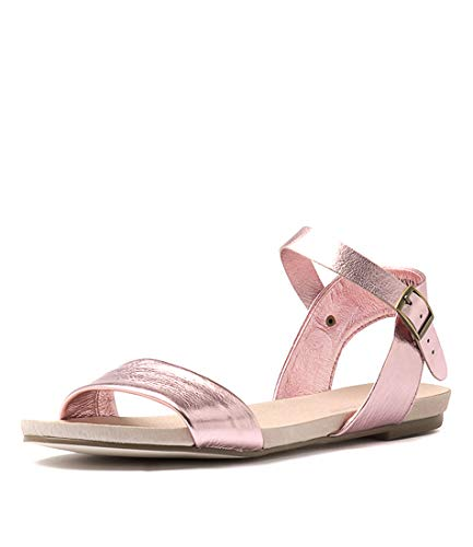 LEATHER DJANGO Sandals Flat JINNIT JULIETTE Womens PINK METALLIC Sandals amp; Summer ppvwS