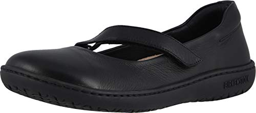 Birkenstock Womens Lora Black Leather Flat - 39 REG