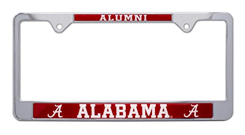 All Metal NCAA Alumni License Plate Frame (Alabama)