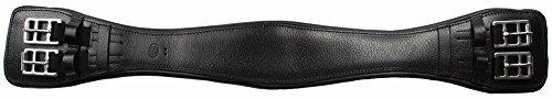 age Girth Black 24 (Leather Dressage Girth Elastic)