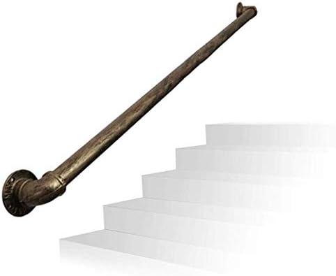 Pasamanos Escalera Escalera Baranda, Barandilla Escalera pared barra de apoyo for montaje en pared interior al aire libre for los niños, ancianos y discapacitados de hierro forjado Tubo retro Pasamano: Amazon.es: Hogar