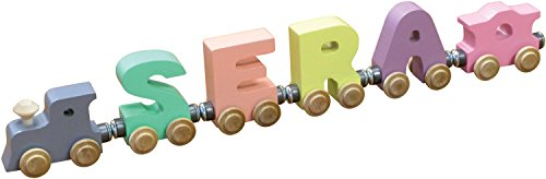 4 Letter Pastel NameTrain - Made in USA