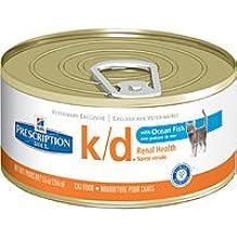 Hill's Prescription Diet k/d Feline Renal Health with Ocean Fish Canned Cat Food 24/5.5 oz