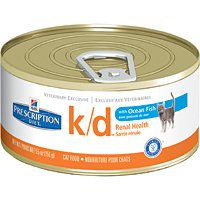 Hill's Prescription Diet k/d Feline Renal Health with Ocean Fish Canned Cat Food 24/5.5 oz