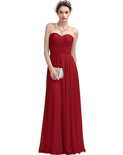 Partido Del Vestido De Fiesta De Verano Sra MeiZiWang Red