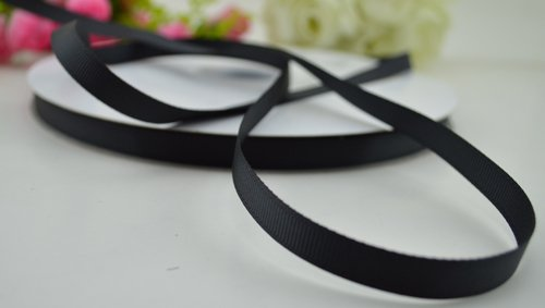 Grosgrain Ribbon 3/8'' 100yards (black)#36 ()