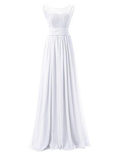 Huini Gasa Vestido Blanco Dama Cord¨®n Noche De Largo Honor Paseo Vestidos 77wxa1qr