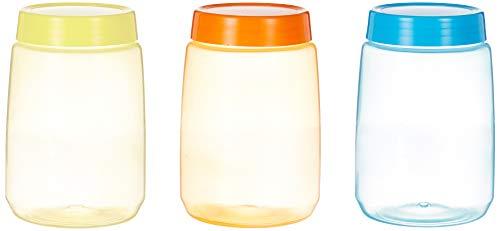 Amazon Brand – Solimo Plastic Storage Container Set, 1 Litre, Set of 3, Multicolour Price & Reviews