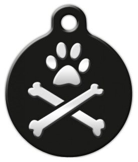 """Lupine Pattern """"Bling Bonz"""" – Custom Pet ID Tag for Dogs and Cats – Dog Tag Art – LARGE SIZE, My Pet Supplies"""