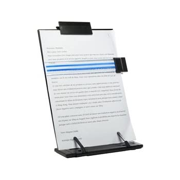 CoBean Black metal desktop document book holder with 7 adjustable positions