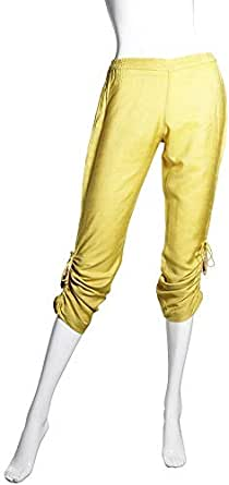 Sana'a Kayum Yellow Slim Fit Capris Pant For Women