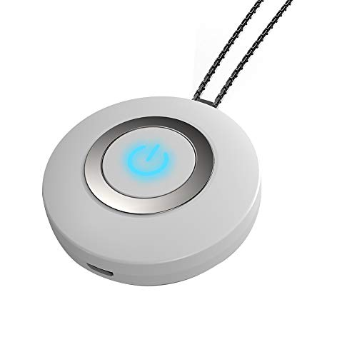 Personal Air Purifier Necklace Air Purifier & Sanitizer Personal Travel Mini Portable Air Purifier Portable Wearable Necklace Air Purifier White