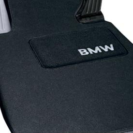 BMW Carpeted Floor Mats with BMW Lettering Heel Pad / Anthracite. 2007-2011 328xi & 335xi (Bmw 3 Series Floor Mats)