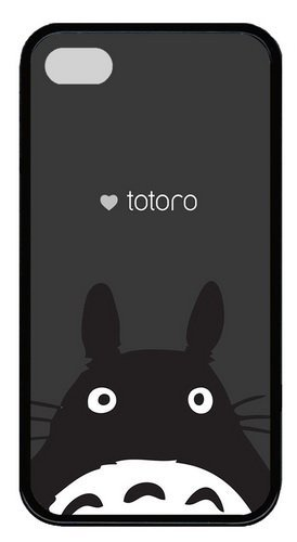 iPhone 4s Case & Cover - Totoro TPU Silicone Case Cover for iPhone 4 and iPhone 4s - Black