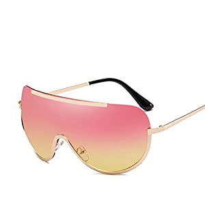 Aviator Sunglasses Womens Polarized Mirror with Case UV 400 Protection,Gold frame gradient green,Give-2-66190