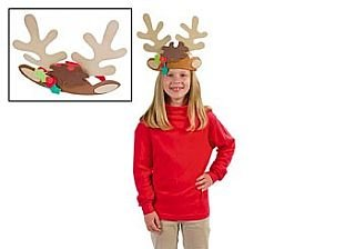 12 Foam Reindeer Antler Headbands Christmas Craft Kit | Christmas Fancy Dress]()