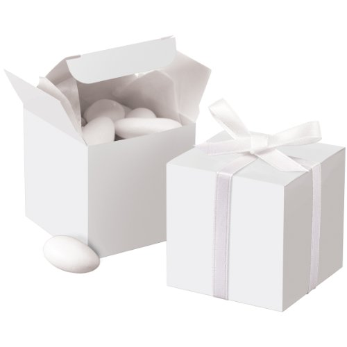 Wilton White Square Favor Box Kit, 100 Count, 1006-0631 -