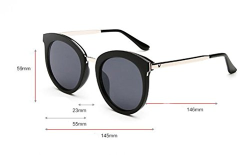 e89d8331cc GAMT Oversized Round Sunglasses Retro Tide Designer Eyewear for Women