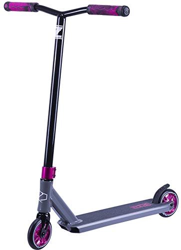 Fuzion Z250 Pro Scooters - Trick Scooter - Intermediate and Beginner Stunt Scooters for Kids 8 Years and Up, Teens and Adults - Durable, Smooth, Freestyle Kick Scooter for Boys and Girls (Black)