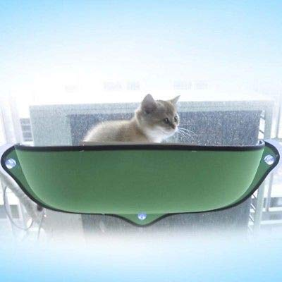 Green FidgetGear Cat Window Sunbathing Bed Hammock Lounger Sofa with Suction Cup for Home and car Green