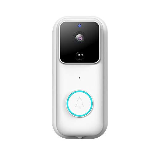 AfazfaWiFi Video Doorbell Smart Doorbell 1080P HD WiFi Security Camera Night Vision (White) (Night Owl Camera Pen)