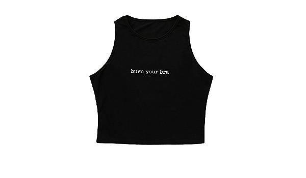 YEBIRAL Camisetas Sin Mangas para Mujer, Letra Impreso Casual ...
