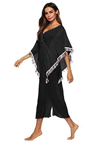 cubre Hippie camisa t Bohemio elegante Mujer que verano la de Bikini Poncho wxYI4zqg