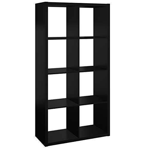 ClosetMaid 4587 Decorative Open Back 8-Cube Storage Organizer, Black ()