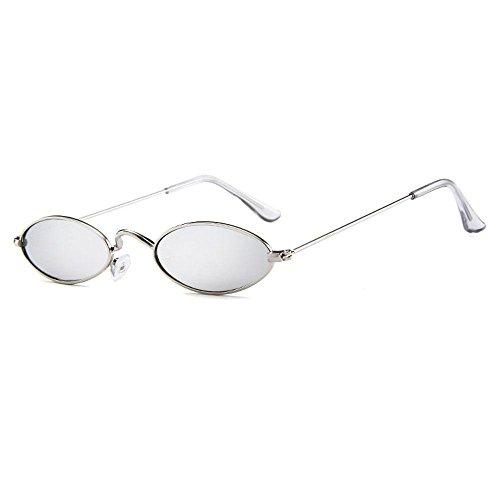 Fram Hombres Metal Sol Delgado de de FOONEE Gato Retro Metal Gafas para Caramelos pequeñas Grey Gafas Lens Mujeres Sol Silver ovaladas ovaladas de Gold de Marco Metal Ojo Lens Fram Silver Colores de de x0FxqAwR