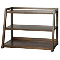 Kelman Walnut 3-Shelf Bookcase