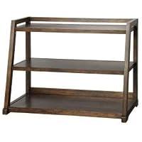 Kelman Walnut 3-Shelf Bookcase