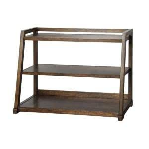 amazon   kelman walnut 3 shelf bookcase kitchen amp dining