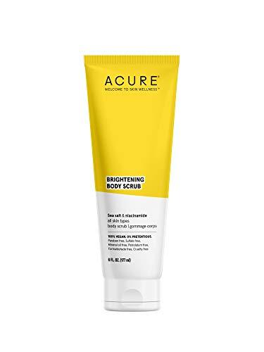 ACURE Brightening Body Scrub | 100% Vegan | For A Brighter Appearance | Sea Salt & Niacinamide (Vitamin B3) | Brightens…