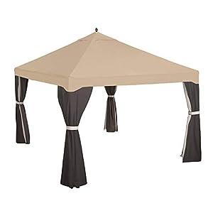 Garden Winds Replacement Canopy Top Cover for Garden Treasures 10×12 Gazebo – Riplock 350 – Beige