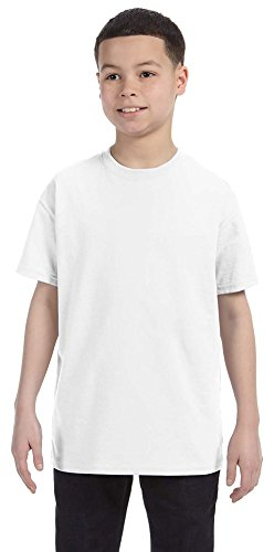 Today Ash Grey T-shirt - Gildan Heavy Cotton Youth 5.3 oz. T-Shirt, Large, WHITE