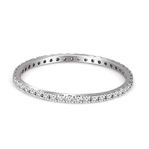 IGI Certified Diamond Ring 1/5 Carat Lab Grown Diamond Engagement Diamond Rings for Women Lab Created Diamond Rings SI1-SI2-HI Quality 10K White Gold Diamond Ring (Jewelry Gifts For Women)