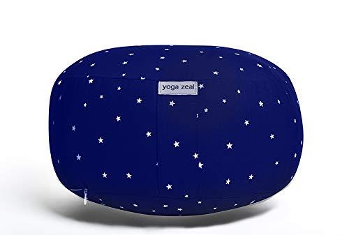 Meditation Cushion/Zafu / Cushion for Meditating/Floor Pillow/Meditation Cushions/Yoga Cushion/Designer Floor Pillow/Star Design (Meditation Cushion)