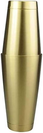 RMEX 2 Pezzi American Style Boston Shaker Agitatori per Cocktail Shaker in Acciaio Inossidabile Tazza per///miscelare Bere Barista Strumento per Bar 750 ml Oro