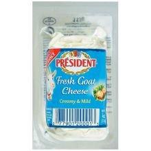 President Plain Fresh Goat Cheese Log, 4 Ounce -- 12 per case.